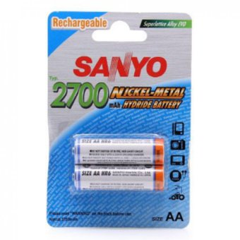 Harga Authentic Sanyo HR-3U Rechargeable 1.2V 2700mAh Ni-MH AA Batteries ( Twin packed of 4 peices )