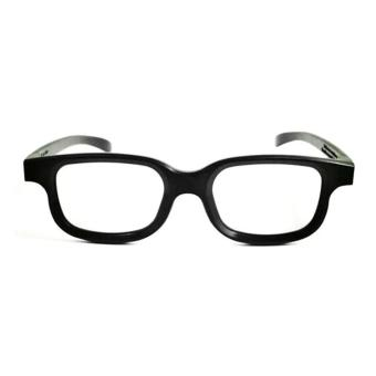 Polarized 3D Glasses Black Movie DVD LCD Video Game Theatre Circular - Intl