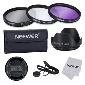 Harga Neewer 52MM Professional Lens Filter Accessory Kit for NIKON D7100 D7000 D5200 D5100 D5000 D3300 D3200 D3100 D3