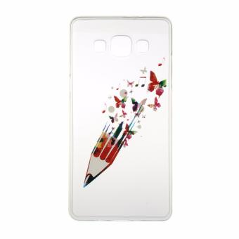 Harga Fashion 3D Pattern Silicone Cover Soft Clear TPU Phone Case For Samsung Galaxy A3 (White) - intl