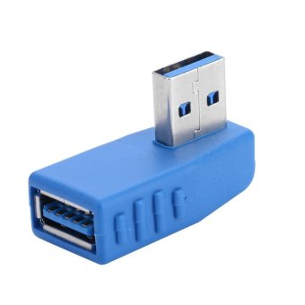 2 Pcs USB 3.0 Type A Male to Female Angle Adapter Convertor Cable #4 - intl