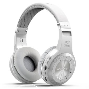 Harga Bluedio Turbine Hurricane H+Bluetooth 4.1 Stereo Headphone (White)
