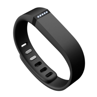 Harga Replacement Large Sports TPE + TPU Wrist Band w/ Clasp for Fitbit Flex Smart Bracelet (Black)