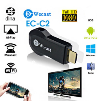 Harga Miracast Wifi Display Dongle Receiver 1080P Wireless AirPlay DLNA HDTV