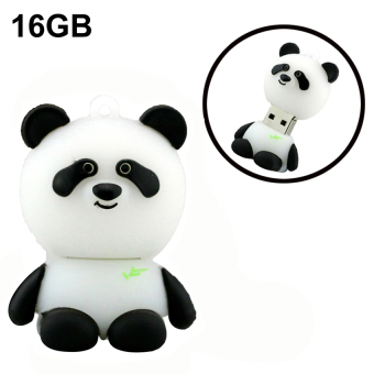 Harga Creative 16GB Panda USB Flash Drives External Memory Storage Pen Drive U Disk (Black+White) - Intl