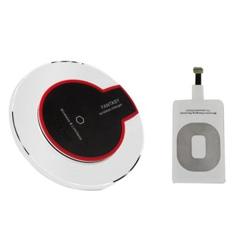 Harga Wireless Charging Pad + iOS Lightning Wireless Receiver