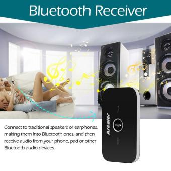 Arealer B6 2 in 1 Bluetooth Transmitter & Receiver Wireless A2DP Bluetooth Audio Adapter Portable Audio Player Aux 3.5mm Black - intl