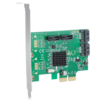 Harga IOCREST Marvell9230 Chipset PCI-Express to SATA 6Gbps RAID Card - Green (Intl)