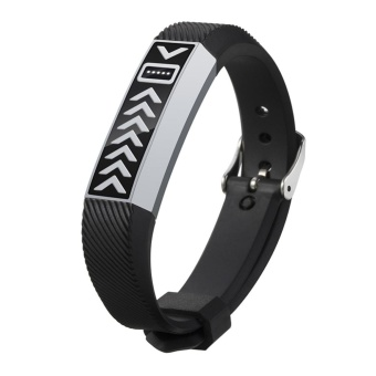 Harga New Stainless Steel Strap Case For Fitbit Flex(Black) - intl