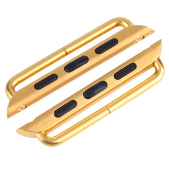 Harga Allwin Metal Watch Strap Band Adapters Connectors 38/42mm for Apple Watch for iWatch Golden