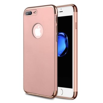 Harga NORTHJO 3 in 1 Ultra Thin and Slim Hard Case Cover Coated Non Slip Matte Surface with Electroplate Frame for Apple iPhone 7 Plus – Rose Gold - intl