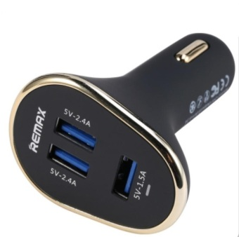 Harga Remax 6.3A 3 USB Port In-Car Charger Black