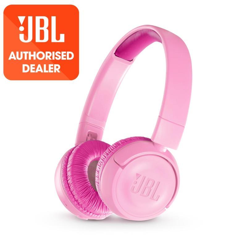 JBL JR300BT Pink Kids Wireless on-ear headphones with safe sound <85dB Singapore