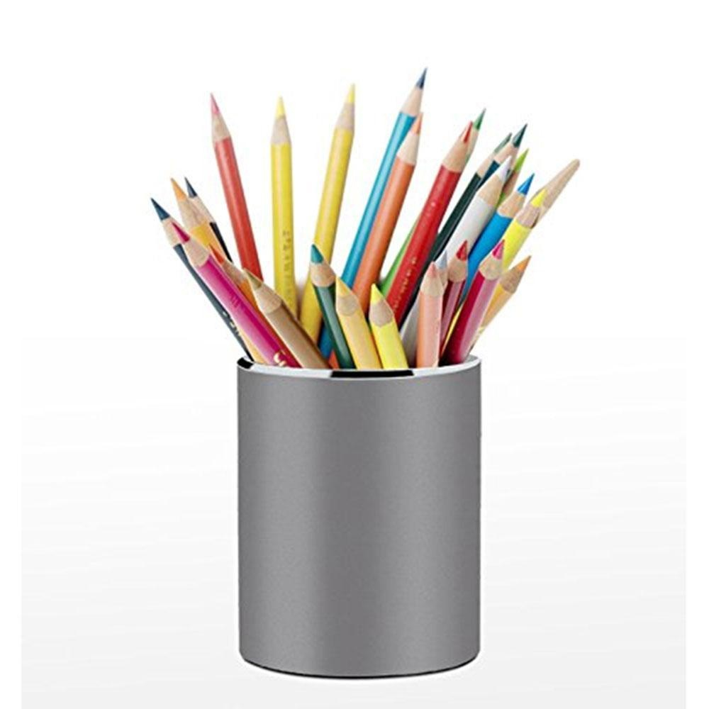 Jiaxiang Pen Pencil Holder, Creative Simple High End Business Office Pen  Holder Stainless Steel
