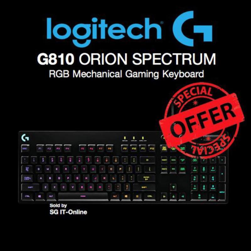 Logitech G810 Orion Spectrum RGB Mechanical Gaming Keyboard Singapore