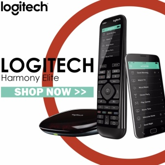 Harga Logitech Harmony Elite Remote Control, Hub and App, works withAlexa - intl