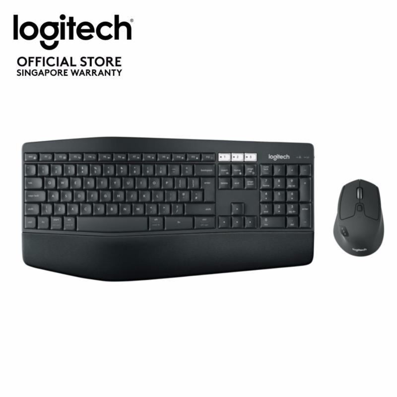 Logitech MK850 Performance Wireless Multi Device Combo with Cushion Palm Rest (Bluetooth & Unifying) (Apple Mac, Microsoft Windows) Singapore