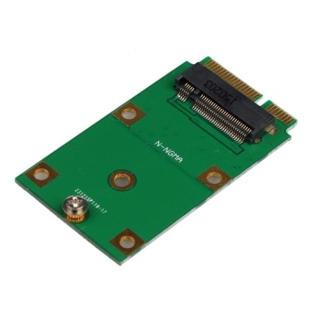 Mini PCI-E 2 Lane M.2 NGFF 30mm 42mm SSD To 52pin mSATA Adapter Card - intl - 3
