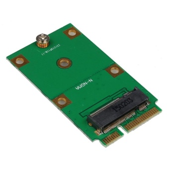 Mini PCI-E 2 Lane M.2 NGFF 30mm 42mm SSD To 52pin mSATA Adapter Card - intl