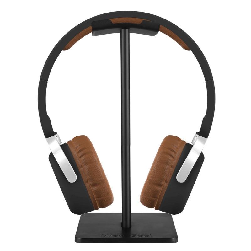 niceEshop Headphone Stand, Universal Aluminum Headphone Holder Headset Showing Display Stand Headphone Hanger, Black Singapore