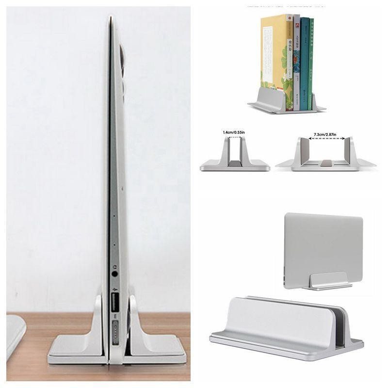 Nicee Vertical Laptop Stand Aluminum Alloy Desk Holder Space Saving For Notebook Silver Intl Singapore