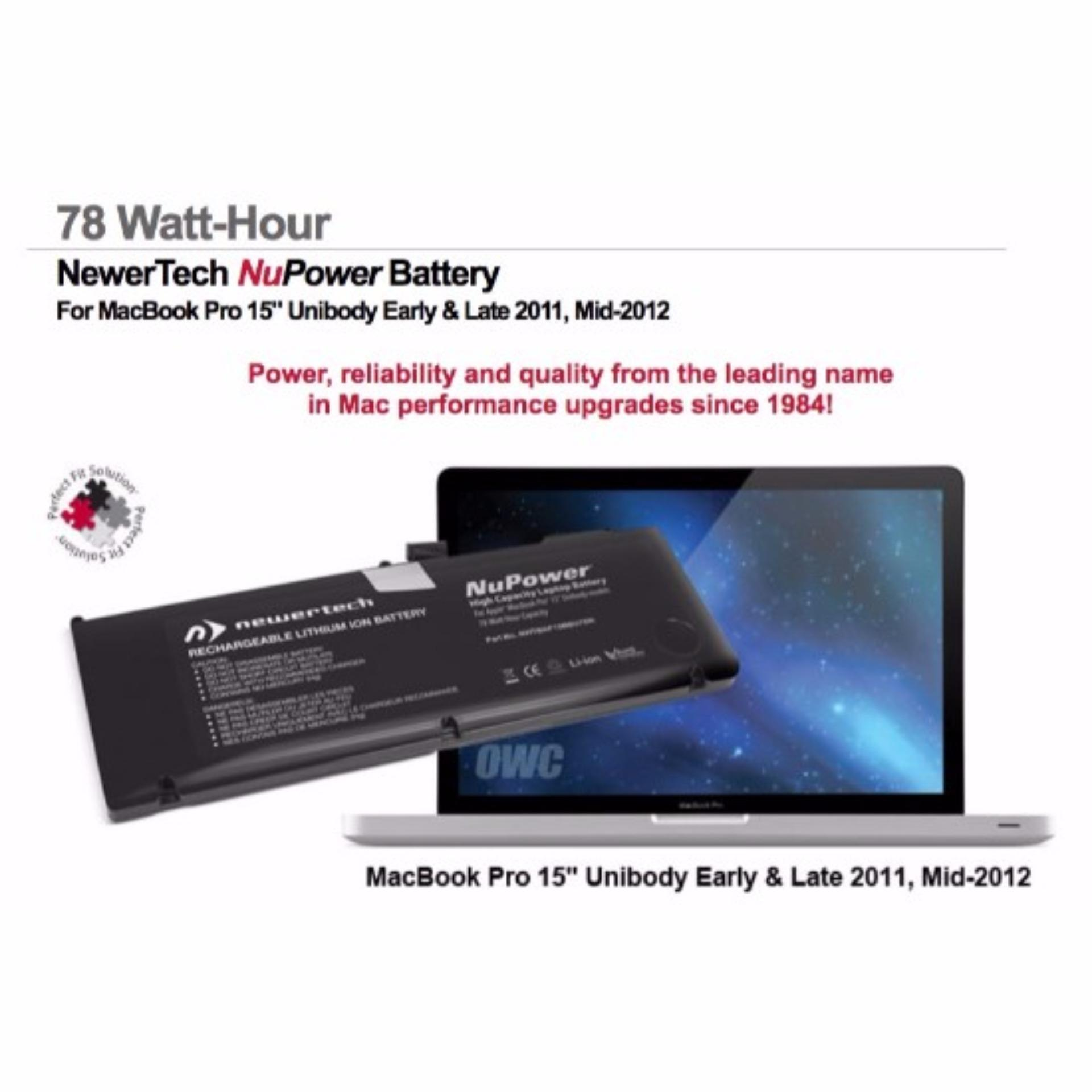 NuPower battery MacBookPro 15  2011 2012