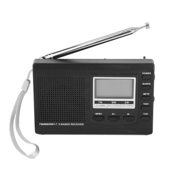 Portable Mini FM Radios MW/SW Receiver with Digital Alarm Clock- Black - intl | Lazada Singapore
