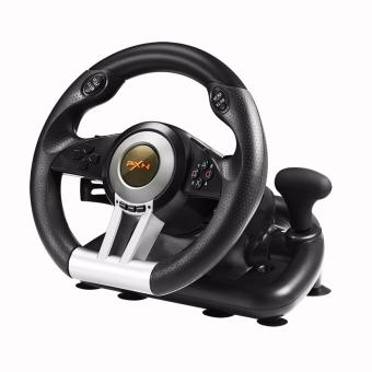 PXN-V3II Steering Wheel Racing Game Controller for PS3 PS4 XBOX ONE PC(Black)