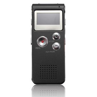 Rechargeable 8GB Digital Voice Recorder Audio Dictaphone MP3 Player (Black)
