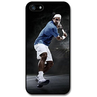 Roger Federer Playing Blue Black Tennis Player Case For Iphone 5 5S - intl