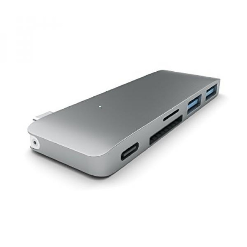 """Satechi Type-C USB 3.0 3 in 1 Combo Hub for MacBook 12"""" (with USB-C Charging Port) (Space Gray) - intl"""