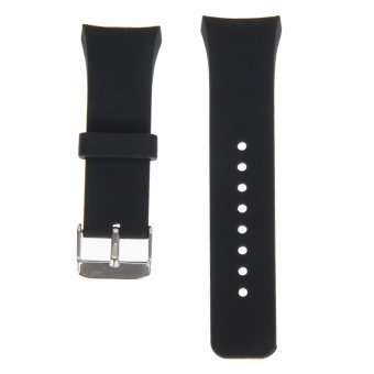 Silicone Watch Band Strap For Samsung Galaxy Gear S2 SM-R720(Black)(Export)