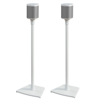 Sonos Stereo Pair Play:1 White + Sanus Stands