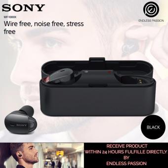 Sony WF-1000X Premium Noise Cancelling True Wireless Headphones - Black / Gold