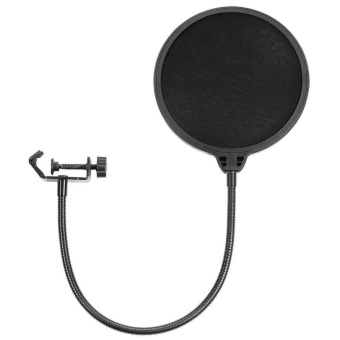 Studio Recording Microphone Mic Wind Screen Pop Filter Mask Shield- intl
