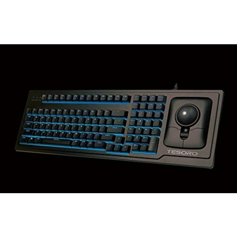 Tesoro G6TL Ergonomic Backlit Mechanical Keyboard with Optical Trackball Mouse - intl Singapore