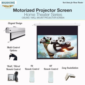 "[TOP QUALITY] HOME THEATER 100"" (16:9) Projector Screen / BIGSHINE"