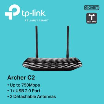 TP-LINK - Archer C2 AC750 Wireless Dual Band Gigabit Router