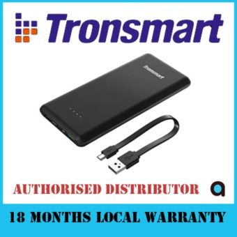 Harga Tronsmart Presto 10000mAh Quick Charge 3.0 Power Bank (Black)