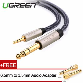 Harga UGREEN 3.5mm to 6.5mm Audio Cable Nylon Braided with Audio Adapter- 1m