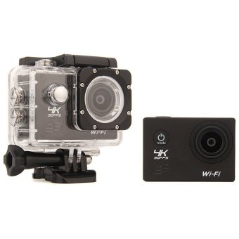 Ultra HD 4K WiFi Action Camera 30M waterproof Sport Camcorder(Black) (Export)