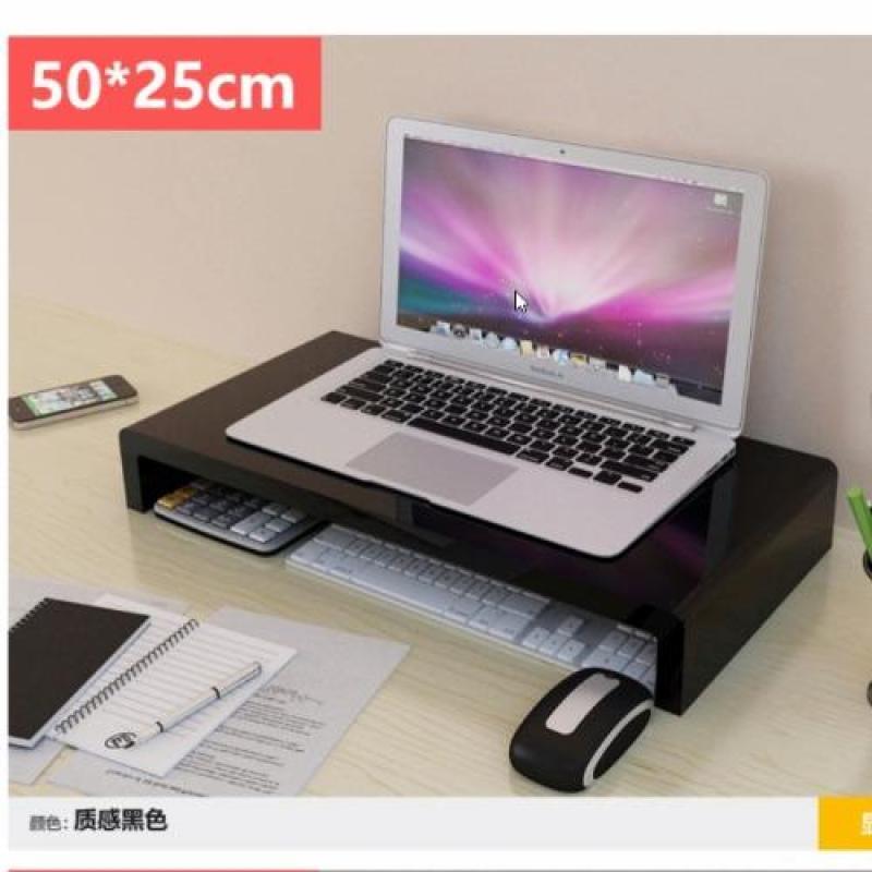 Unibody 50cm Wood Laptop Stand (Black)