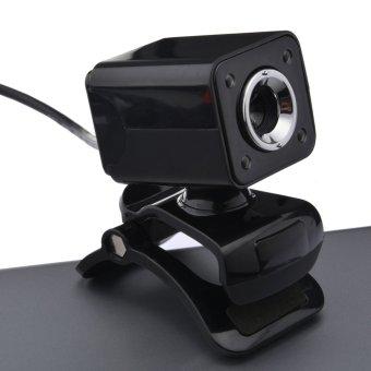 USB 2.0 1080P 12M Pixel 4 HD Webcam Web Cam Camera MIC for PC All (Black) - 4
