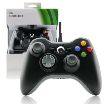 Harga USB Wired Joypad Gamepad Controller for Xbox 360/ PC Windows 7(Black)