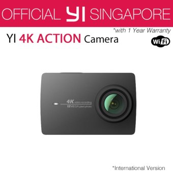 XiaoYi Yi 4K Action Camera 2 (Black) International English Version
