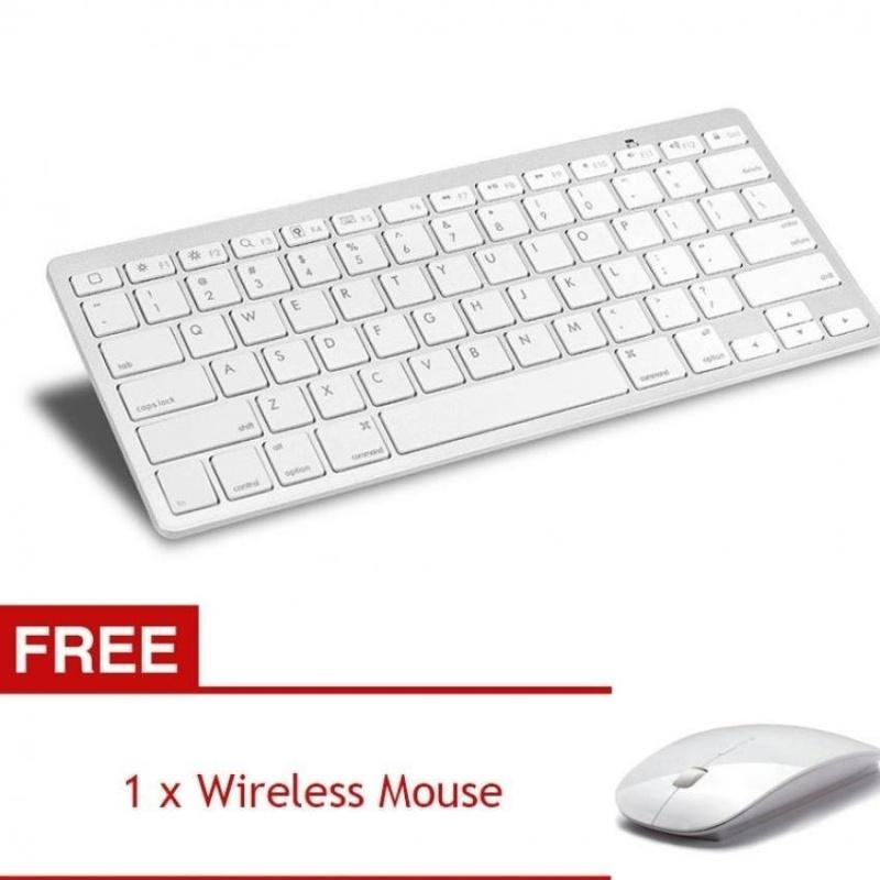 YBC Ultra-slim Wireless Bluetooth Keyboard for PC Smartphone[Buy1Get 1 Free] - intl
