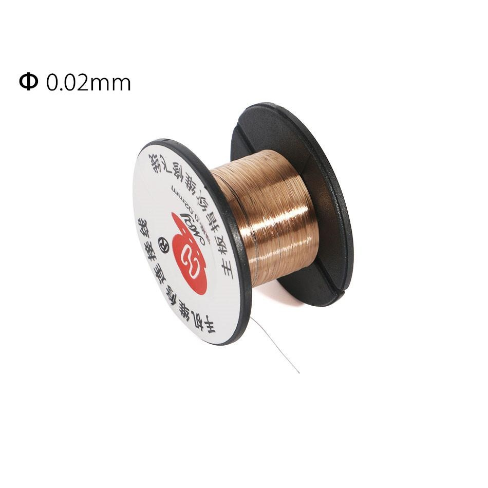 0.02mm PCB Link Wire Copper Soldering Wire Maintenance Jump Line for ...