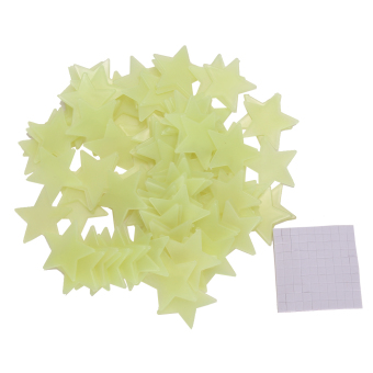 100pcs Home Wall Light Green Glow In The Dark Star Stickers Decal Baby Room