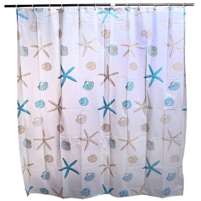 2017 180*180CM New Peva Waterproof Fashion Star Bathroom ShowerCurtain - intl