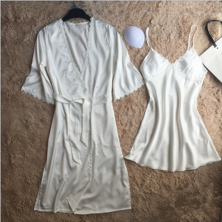 2017 with a chest Pad Ms. summer sexy suspenders lingerie pajamastwo-piece sets small Titoni long section nightgown tracksuit